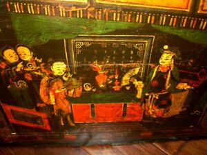CHINESE painted opera wedding trunk Early 1800s–mid 1800s Shanxi