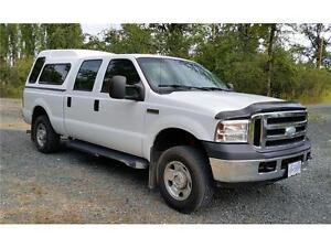 2006 FORD F250 4X4 ONLY 123,719 KMs XLT CREW CAB, Canopy $15,900 Prince George British Columbia image 6