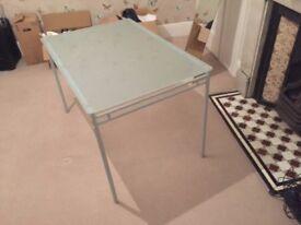 Glass desk / table medium size 75x 110cm for sale