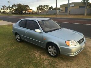 2004 Hyundai Accent LC MY04 Blue Manual Coupe Wangara Wanneroo Area Preview