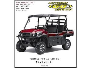 SAVE UP TO $3200 ON ALL KAWASAKI MULES ONLY AT G & G BROTHERS