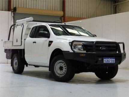 2014 Ford Ranger PX XL Super Cab White 6 Speed Manual Cab Chassis Bibra Lake Cockburn Area Preview