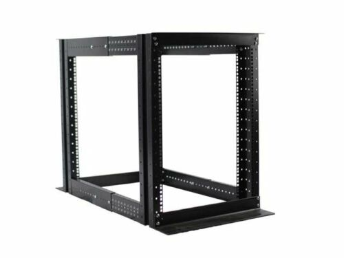 "15U 4 Post Open Frame Server Rack Enclosure 19"" Adjustable Depth"