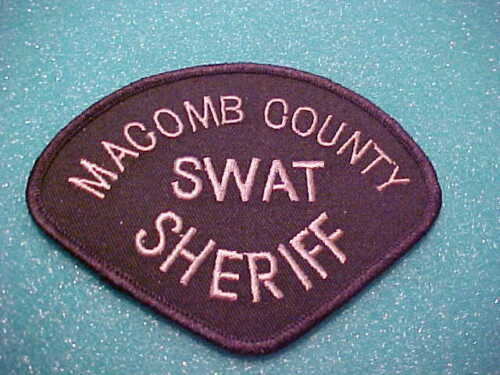 MACOMB COUNTY MICHIGAN S.W.A.T.  POLICE PATCH  SHOULDER SIZE UNUSED