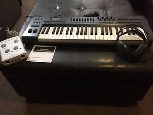 M-Audio Axiom 49-Key Keyboard w/Tascam Sound card & HeadPhones