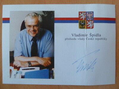 Vladimír Špidla (TCH) - Politik Ministerpräsident - Autogrammkarte