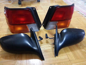 toyota tercel mirrors and back lights parts + Honda Accord axle
