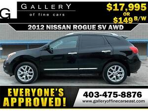 2012 Nissan Rogue SV AWD $149 bi-weekly APPLY NOW DRIVE NOW