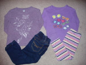 Baby Gap Old Navy Toddler Girl 5 Piece Clothing Lot, 18-24/2T