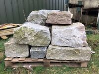 Granite Building Blocks - Grey - Good Quantity