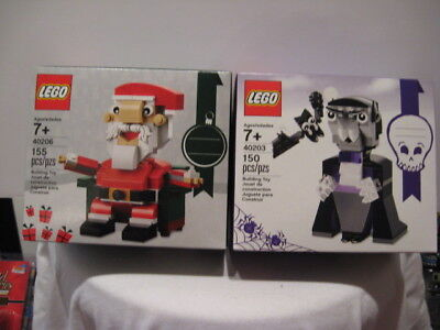 Lego Holiday Santa  40206   156 Pcs   Halloween Vampire Bat  40203   150 Pcs