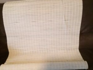 "wooden blind for sale - 36"" wide X 68 "" long, ivory"