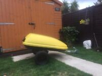 Lockable Heavy Duty Trailer With New Erde Alloy And Wheels For Only £125 Great For Camping Fishing