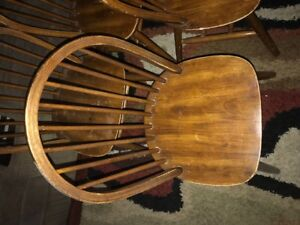 Set of Four Wooden Chairs