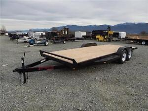 2017 18' 10,000lb FLATDECK EQUIPMENT CAR TRAILER