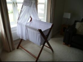 John Lewis White crib immaculate condition
