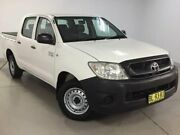 2011 Toyota Hilux TGN16R MY10 Workmate 4x2 White 5 Speed Manual Utility West Ryde Ryde Area Preview