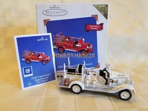 Hallmark 2003 1929 Chevrolet Fire Engine Truck REPAINT Christmas Ornament  YL