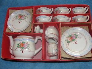 vintage childs tea set