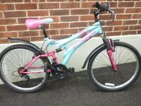 SPECIAL ADDITION DUNLOP DS GIRLS/ TEENAGERS FULL SUSPENSION MOUNTAIN BIKE ! V.G.CONDITION