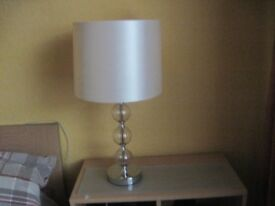 Lovely Ivory coloured Table Lamp - - - £5 - -
