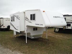 2011 Travel Lite 1000SLRX 10' Truck Camper with Slideout