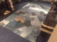 £299 Designer Brand New Soft & Chunky Denim Jean Rug - Only £80