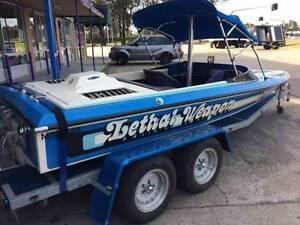 Magnum Ski Boat & Tandem Trailer 350 Chev Rearmount V Drive Wake Sydney City Inner Sydney Preview
