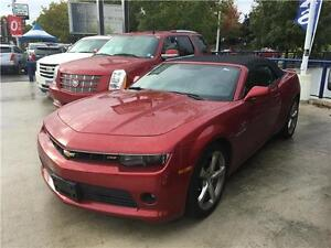2014 Chevrolet Camaro RS Convertible dark red loaded navigation