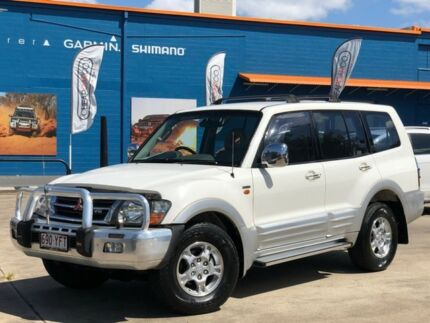 2000 Mitsubishi Pajero NM Exceed White 5 Speed Sports Automatic Wagon Greenslopes Brisbane South West Preview