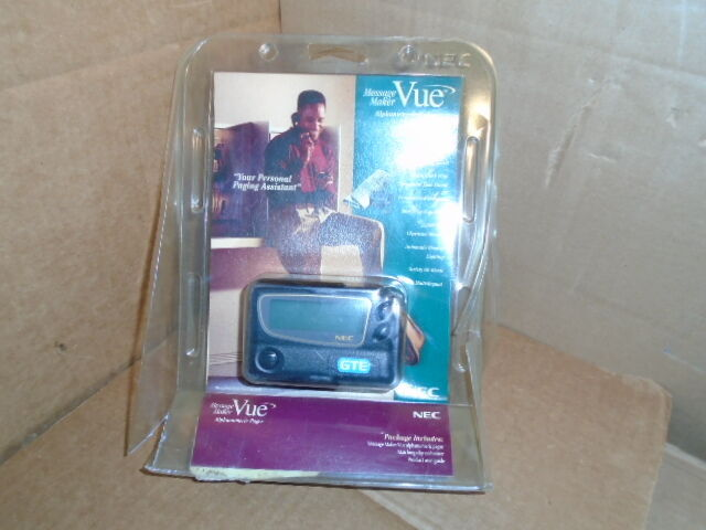 New Vintage NEC Message Maker Vue Alphanumeric Pager