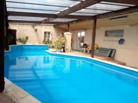 France Holiday Home sleeps up to 8 exclusive use of swimming pool & games room, July weeks