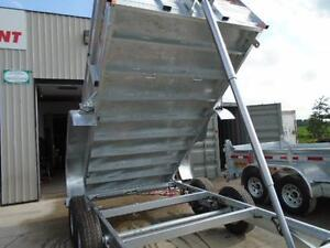 GALVANIZED DUMP TRAILER 5 TON - 6 X 12 WITH MORE FEATURES N&N London Ontario image 4