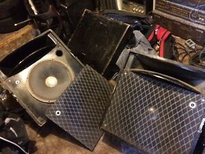 Qty 2 - Stage Monitor Speakers (heavy duty)