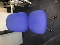 37x blue 2 lever operators chairs with lumbar cushion in excellent condition only £40 each
