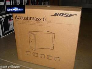 Bose Acoustimass 6 Series III Home Theater Speaker System Powered Sub 5.1 NEW