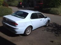 Alfa 156 unfortunate MOT failure. some welding needed. Excellent condition otherwise