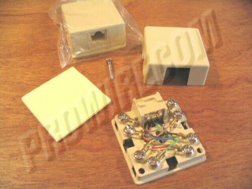 10 lot RJ31X Surface mount phone jack 8P8C telephone alarm seizure block