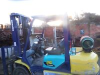 FORK LIFT TRUCK GAS KOMATSU low hours very good condition