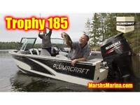 2015 Alumacraft Trophy 185 Fishing Boat with a Suzuki DF150 HP