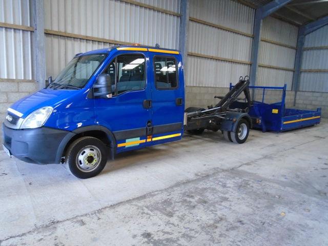 Iveco 45C14 3.0TD Daily Crew Cab Hook Loader, 5200kg gross 2011 61 reg