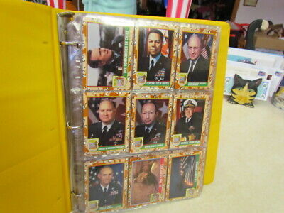 Desert Storm Trading Cards ~ Lot of 186 ~ New in Binder