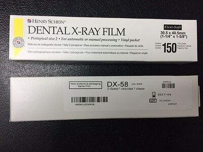 Dental X-ray Film Dx-58 D-speed 150 Each Box 750 Total Equivalent To Kodak Df-58