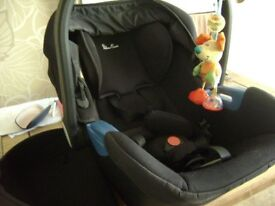 Silver Cross baby car seat and carrier, as new condition, suitable from newborn.