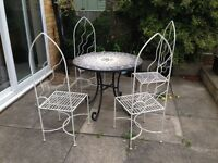 Art Deco Garden table and chairs for sale