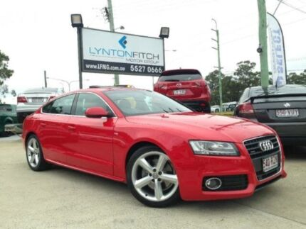 2009 Audi A5 8T MY10 SPORTBACK S TRONIC Q Red 7 SPEED Semi Auto Hatchback Southport Gold Coast City Preview