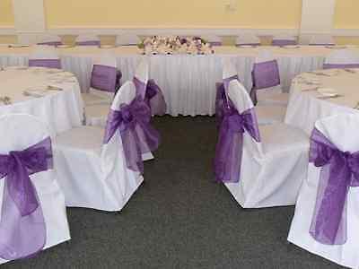 24 Pcs Organza Chair Bow Sashes Wedding Anniversary Party Decoration (24 Chair)