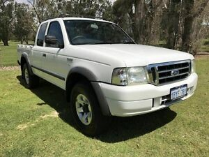 2005 Ford Courier PH (Upgrade) XL Super Cab White 5 Speed Manual Utility Embleton Bayswater Area Preview