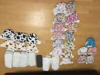24 reusable nappies and inserts