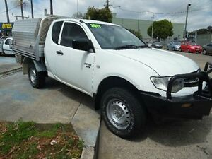 2011 Mitsubishi Triton MN MY11 GLX (4x4) White 5 Speed Manual Cab Chassis Homebush West Strathfield Area Preview